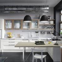 кухня в стиле лофт металл