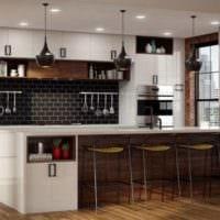 кухня в стиле лофт плитка