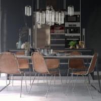 кухня в стиле лофт современность