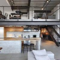 кухня в стиле лофт в доме