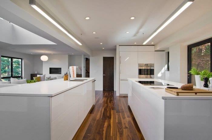 белая кухня модерн