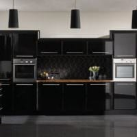 кухня в стиле модерн черная