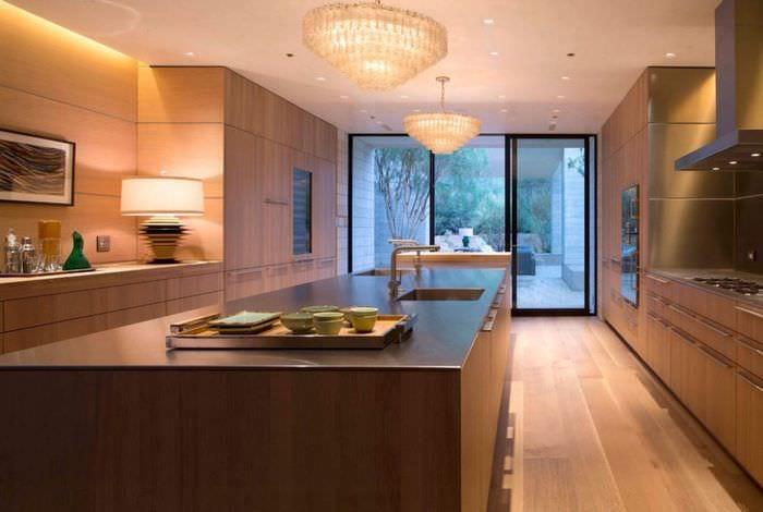 кухня модерн из дерева