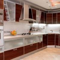 кухня в стиле модерн гарнитур