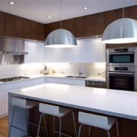 кухня в стиле модерн освещение