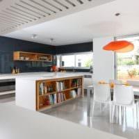 кухня в стиле модерн просторная