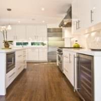кухня в стиле модерн светлая