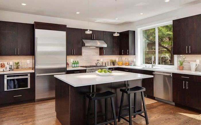 кухня венге красивый дизайн