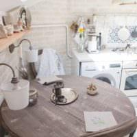 кухня прованс кирпичная кладка