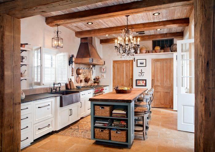 кухня прованс кованая люстра