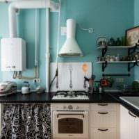 кухня прованс с полками