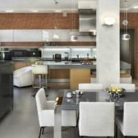 кухня столовая гостиная в частном доме фото дизайна