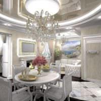 кухня столовая гостиная в частном доме фото интерьера