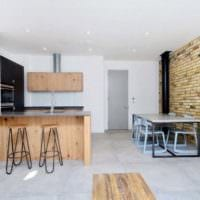 кухня столовая гостиная в частном доме идеи
