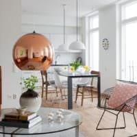 кухня столовая гостиная в частном доме идеи интерьера