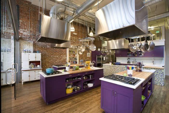 оформление кухни лофт