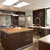 кухня венге стильный интерьер