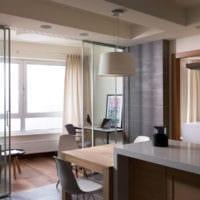 кухня с балконом объединенный дизайн