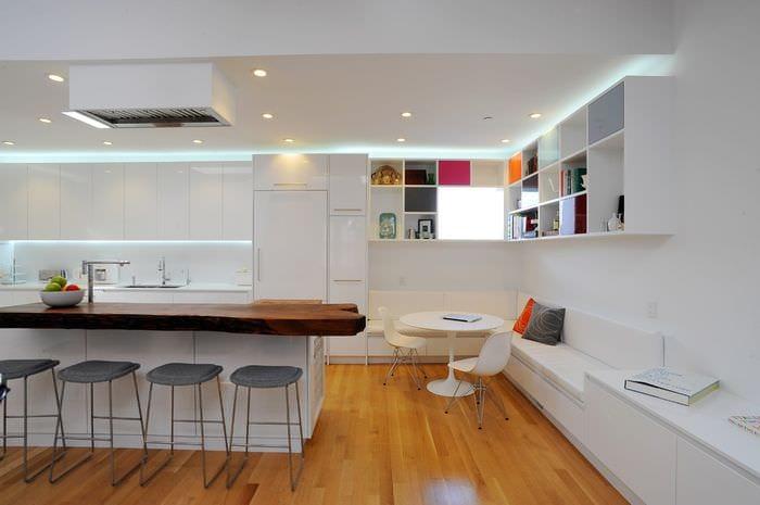 освещение на кухне модерн