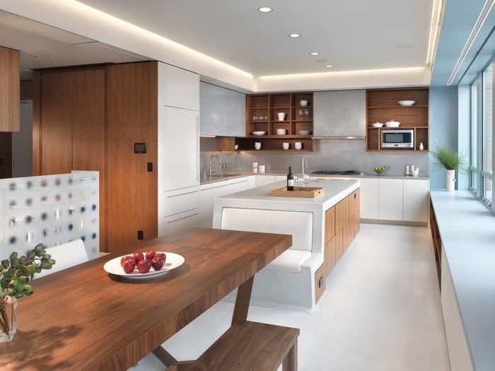 угловая кухня модерн