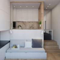 интерьер дизайн квартиры студии