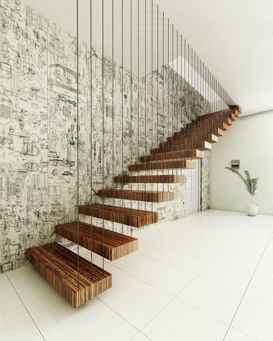 лестница из дерева дизайн