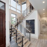 лестница в частном доме дизайн
