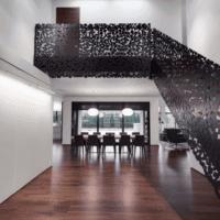 лестница в частном доме оригинальная