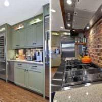кухня в стиле лофт металлические детали