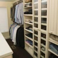 дизайн гардеробной открытая мебель