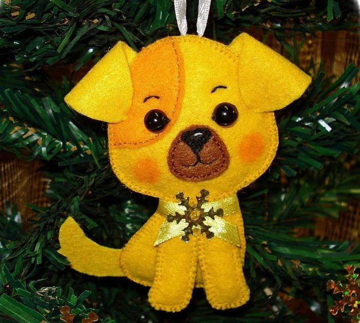 елочная игрушка собака