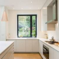 белое оформление кухни