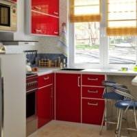 красно белый дизайн кухни