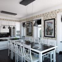 практичная кухня столовая гостиная в частном доме