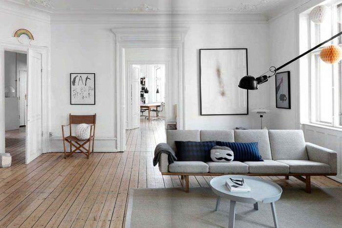 пример использования красивого скандинавского стиля в дизайне