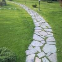 пример использования необычных садовых дорожек фото