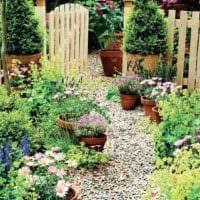 идея применения красивых садовых дорожек картинка