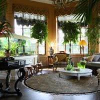идея применения необычных идей оформления зимнего сада в доме картинка