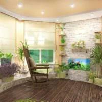 идея использования светлых идей оформления зимнего сада в доме картинка
