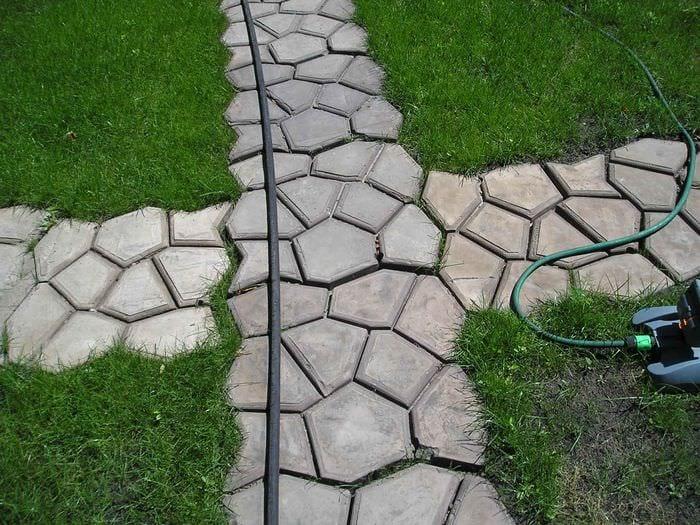 идея применения красивых садовых дорожек в дизайне двора