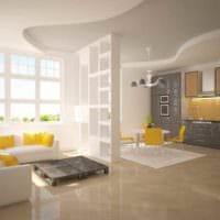 вариант использования яркого желтого цвета в декоре квартиры картинка