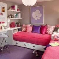 идея яркого декора детской комнаты для девочки фото
