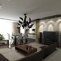 идея яркого интерьера гостиной 15 кв.м картинка