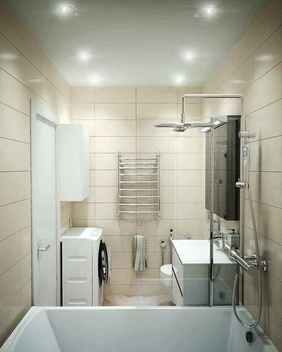 вариант необычного стиля укладки плитки в ванной комнате