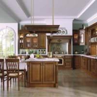 пример необычного декора кухни в деревенском стиле картинка