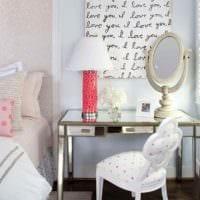 пример светлого стиля детской комнаты для девочки картинка