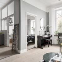 идея красивого дизайна гостиной спальни картинка