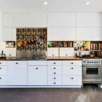 пример яркого интерьера кухни 12 кв.м фото
