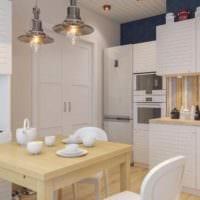 идея светлого декора кухни 7 кв.м картинка