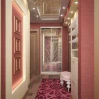 пример светлого декора прихожей в частном доме картинка